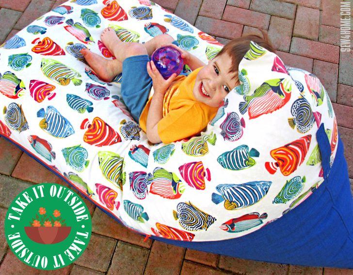 Pyramid Bean Bag Chair Take It Outside Sew4home Diy