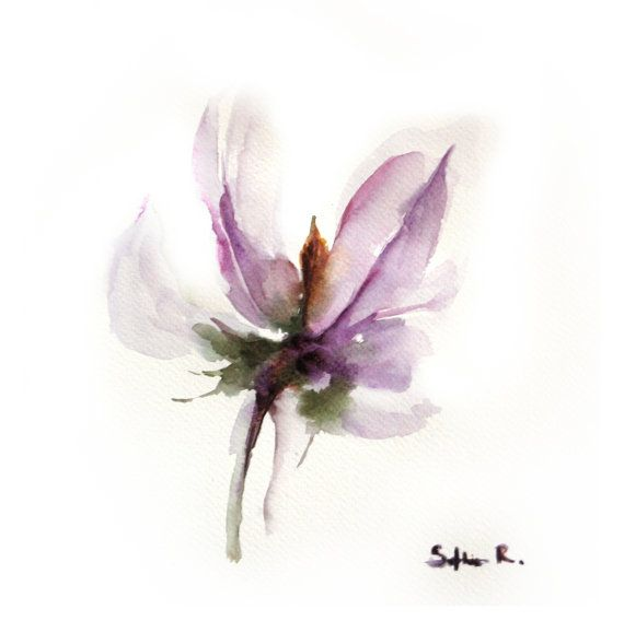 Fine Art Print Of Original Watercolor Painting Abstract Floral