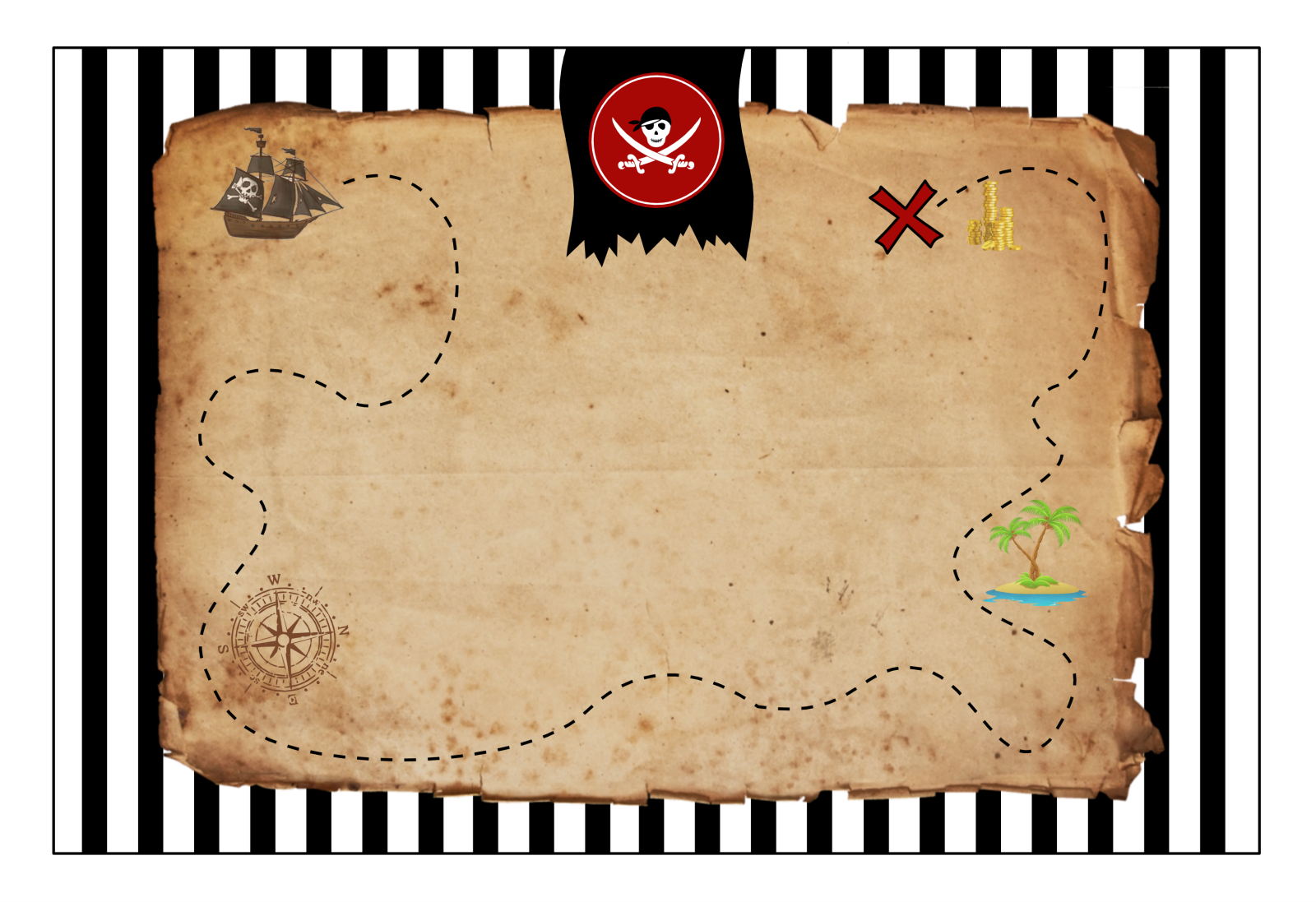 Carte Au Tresor Png.Printable Et Modele D Invitation Pirate Carte Au Tresor A