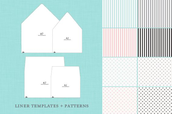 Free Envelope Liners And Templates  Beautiful Blush And Envelope