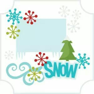 Winter.  Snow greeting card.  By Miss Kate Cuttables.