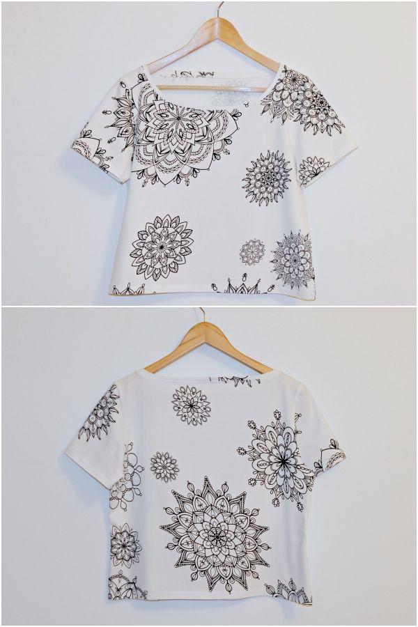 T-Shirt für Damen   Damen kostenlose Schnittmuster   Pinterest