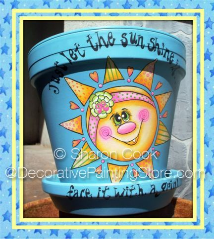 The Decorative Painting Store: Just Let the Sunshine In Pattern - Sharon Cook, Newly Added Painting Patterns / e-Patterns