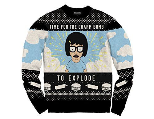 Ripple Junction Bobs Burgers Charm Bomb Knit Ugly Christmas Sweater