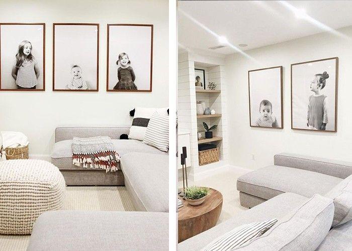 fotowand selber machen verspielte wanddeko ideen wohnzimmer