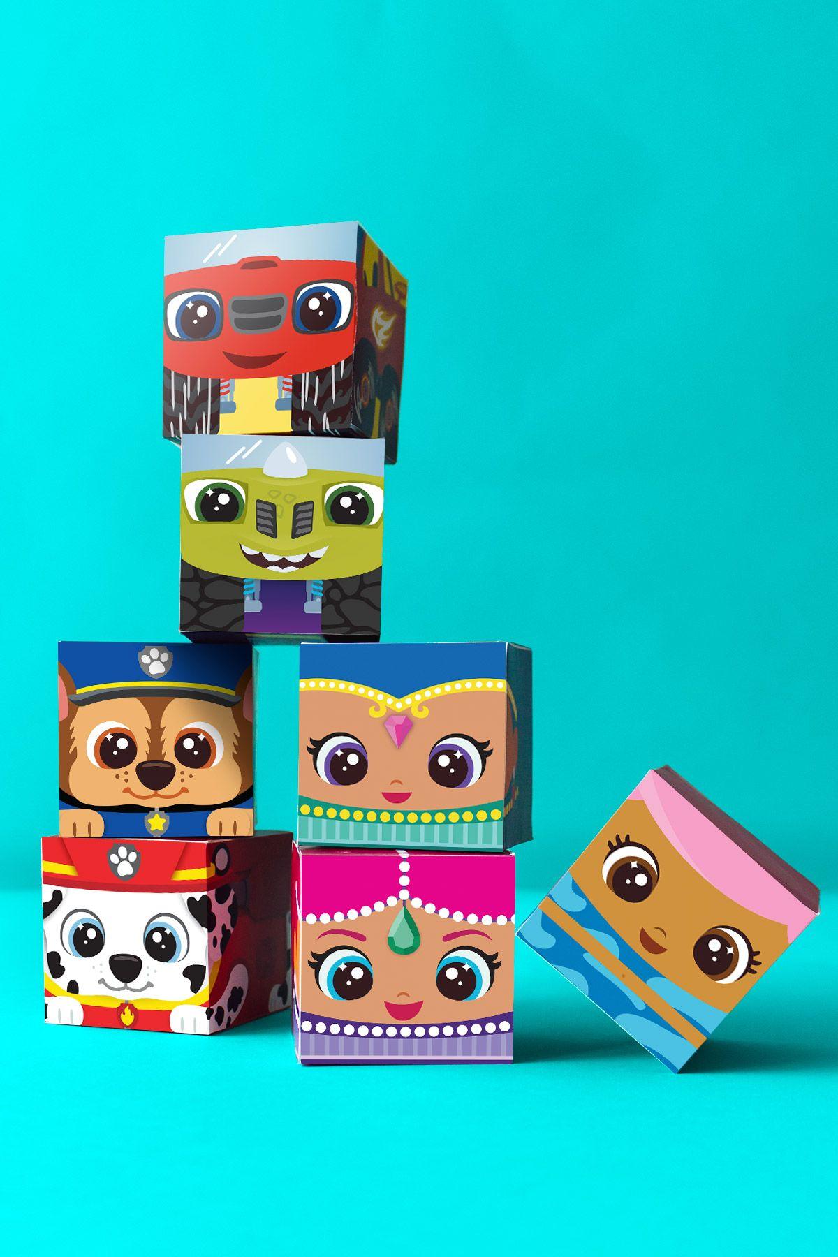 Nick Jr. Block Party Printable Craft | Cumple y Fiestas