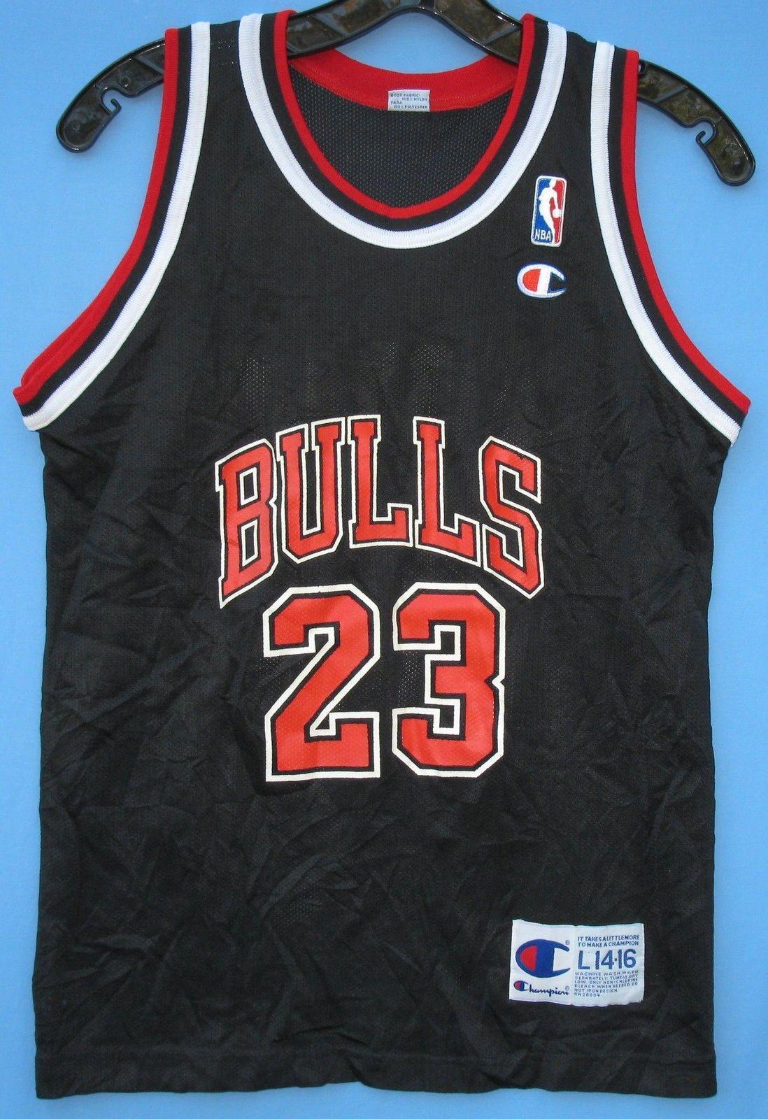 separation shoes 5e234 16dc4 Vintage Champion Chicago Bulls jersey | Jordan Collectables ...