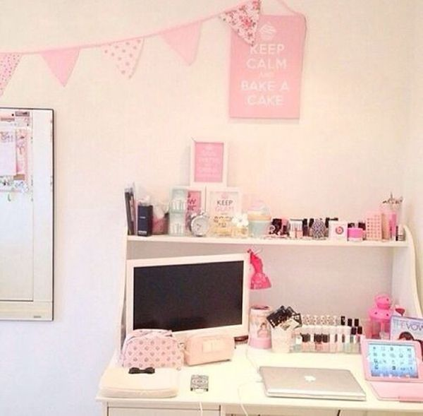 Girly Kitchen Decor: 25 Girly Girl Workspace Ideas