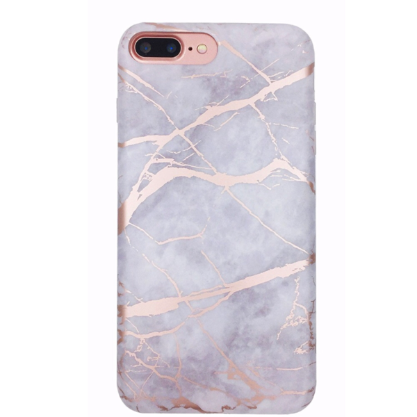 White Marble Rose Gold Chrome Iphone Case In 2020 Rose
