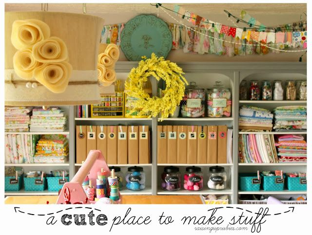 a craft room update ... new pictures ♥