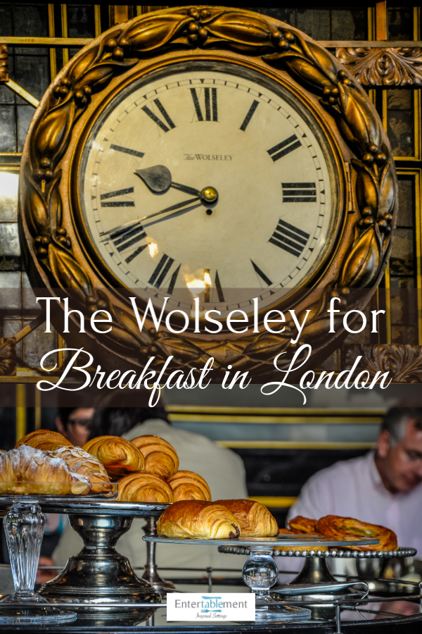 Breakfast at the Wolseley is a fabulous London tradition. Housed in the former showroom of the Wolseley motor car, the Venetian and Florentine architectural details never fail to please. The food is fabulous, too! #England #Travel #photography #architecture #London #dining