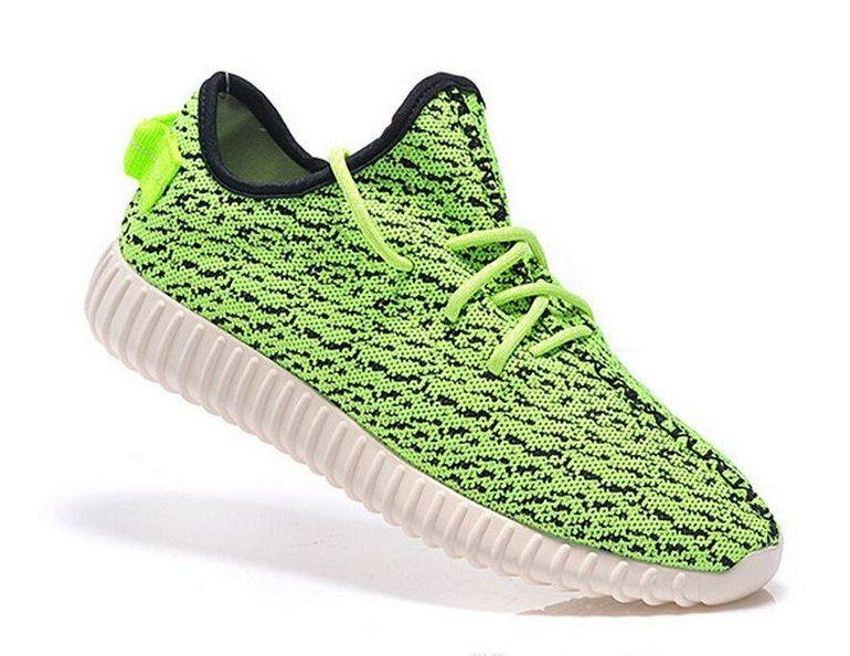 online retailer c5722 f94ac custom adidas yeezy boost 350 kanye west green yellow black white sneakers  run athletic womens shoes by customEU on Etsy