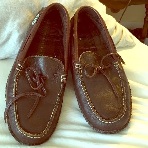 Moccasins L.L Bean. Lightly worn. Still in good condition but never wear them. L.L. Bean Shoes Moccasins