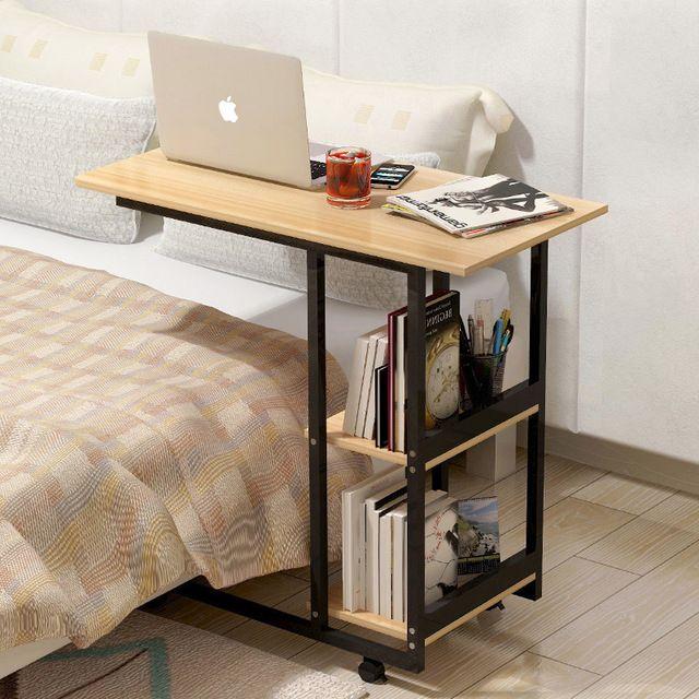 Holz Einstellbar Computertisch Multifunktions Tragbaren Laptop Tisch  Beweglichen Computer Schreibtisch Mit Riemenscheibe