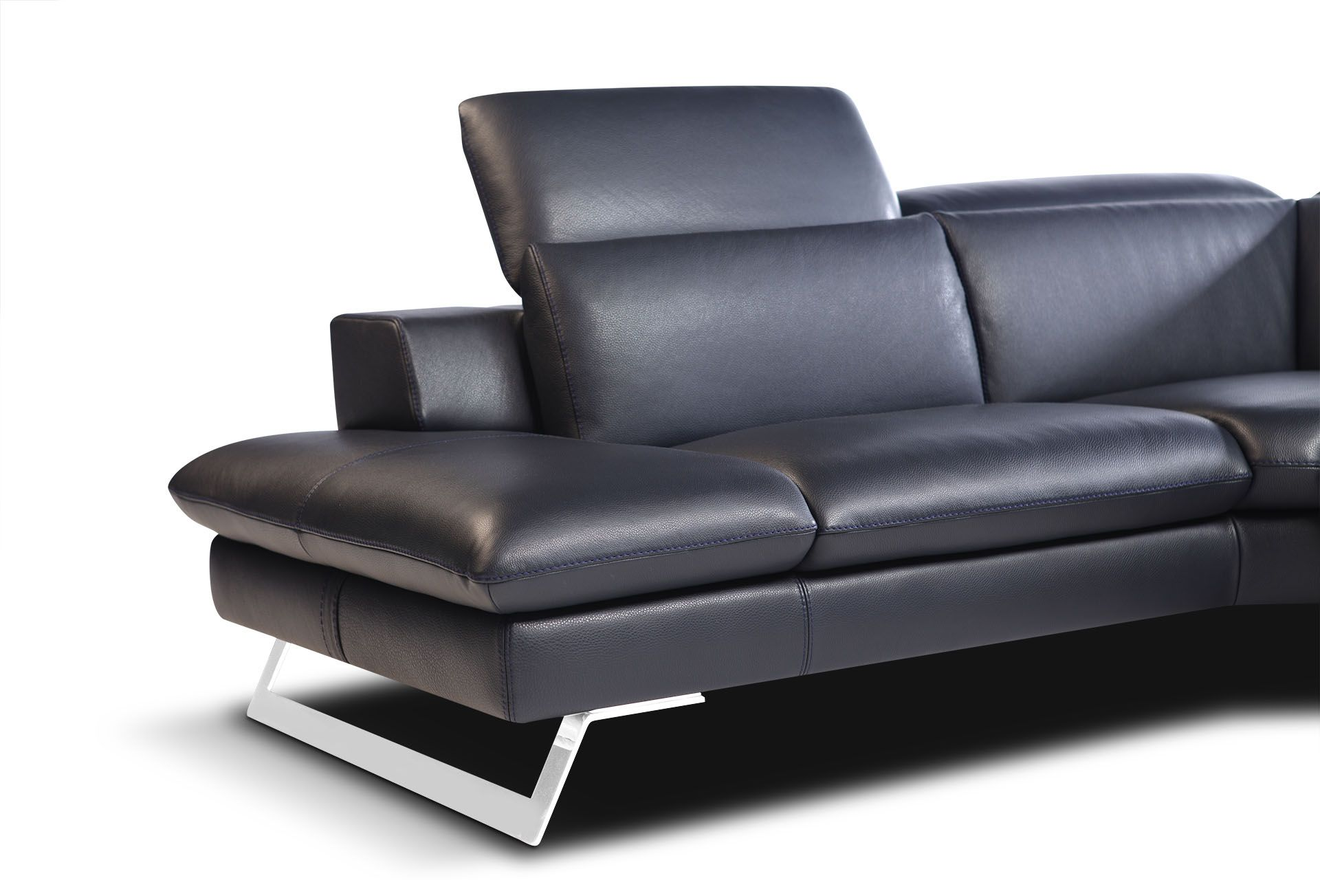 Nicoletti Lipari Grey Italian Leather Sofa Chaise Microfiber Uk Gradschoolfairs