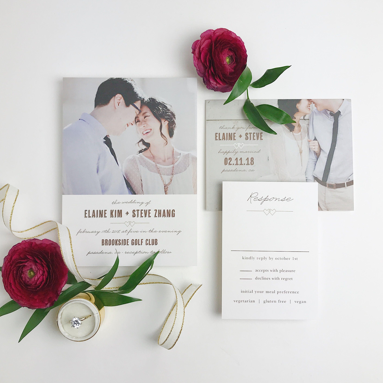 This Linked Hearts Wedding Invitation