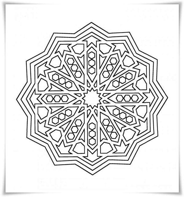 ausmalbilder geometrischen gratis  ausmalbilder