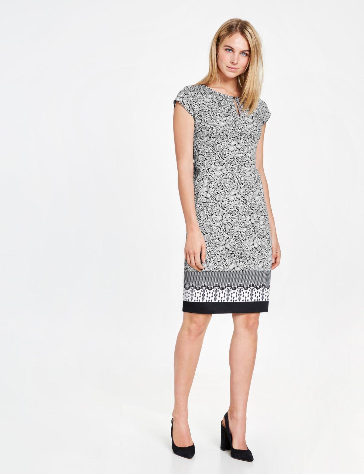 Taifun Kurz »etuikleid Print«Kleider Mit Allover Langarm Kleid F3TK1lcJ