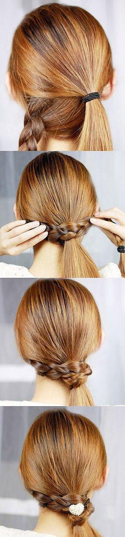 braid ponytail wrap-around