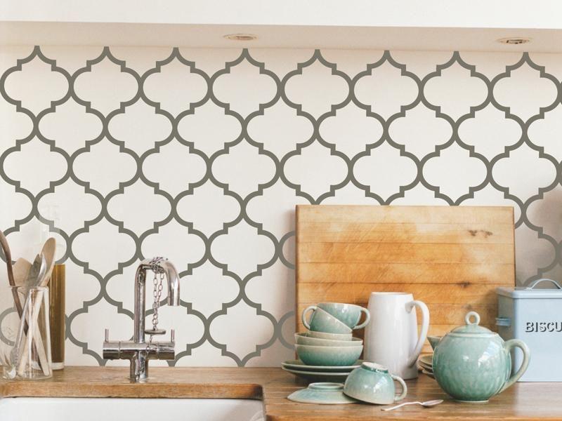 vinyl decorative patternsa lot easier than stencils! http - ikea sideboard k amp uuml che