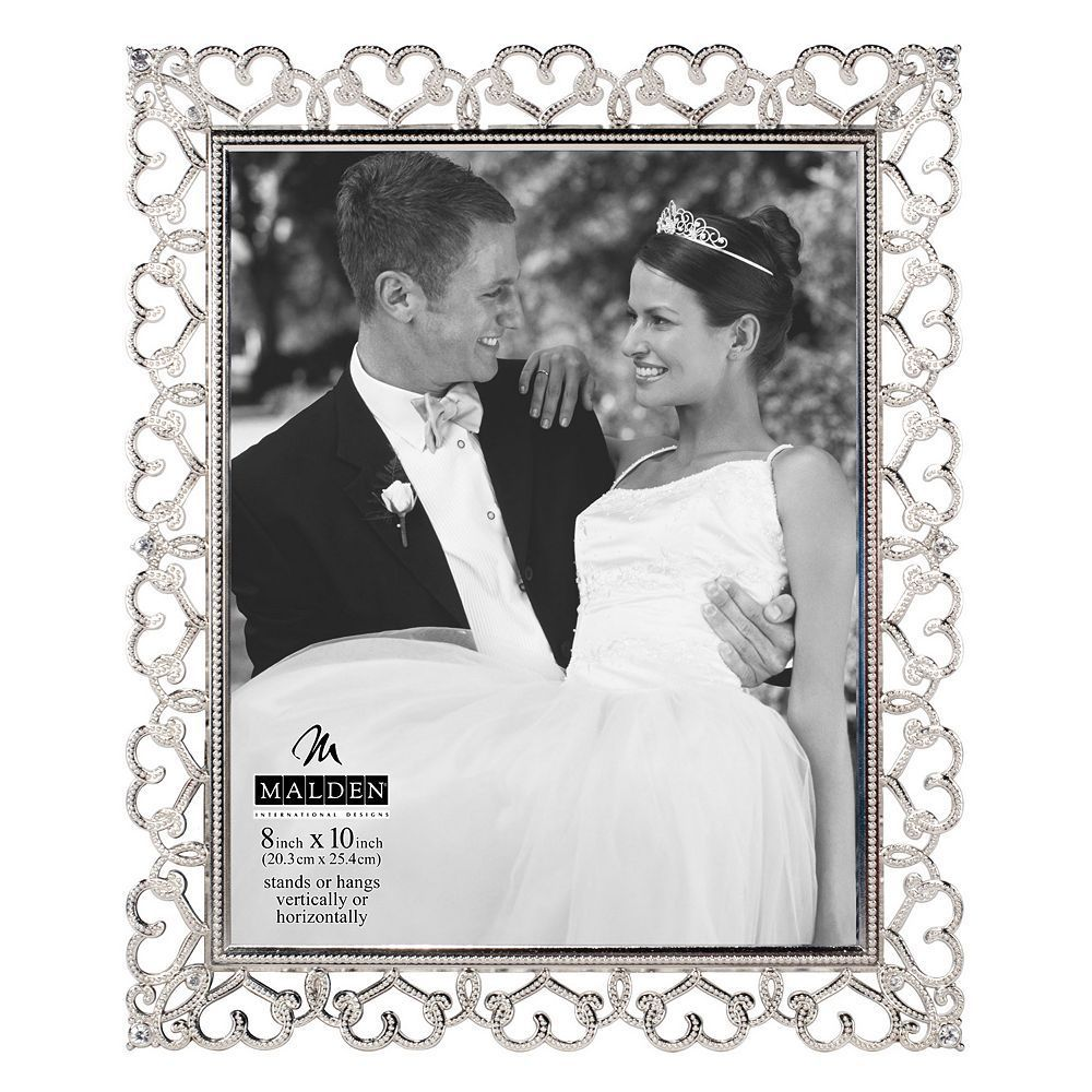 Malden Enchanted Heart 8\'\' x 10\'\' Wall Frame, Silver   Products ...