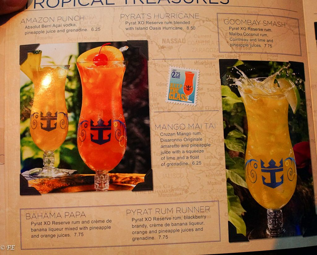 Royal Caribbean Drink Lists Prices Menus And Much More - Caribbean cruise prices