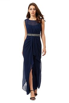 Sheath/Column Jewel Floor-length Chiffon Mother of the Bride Dress