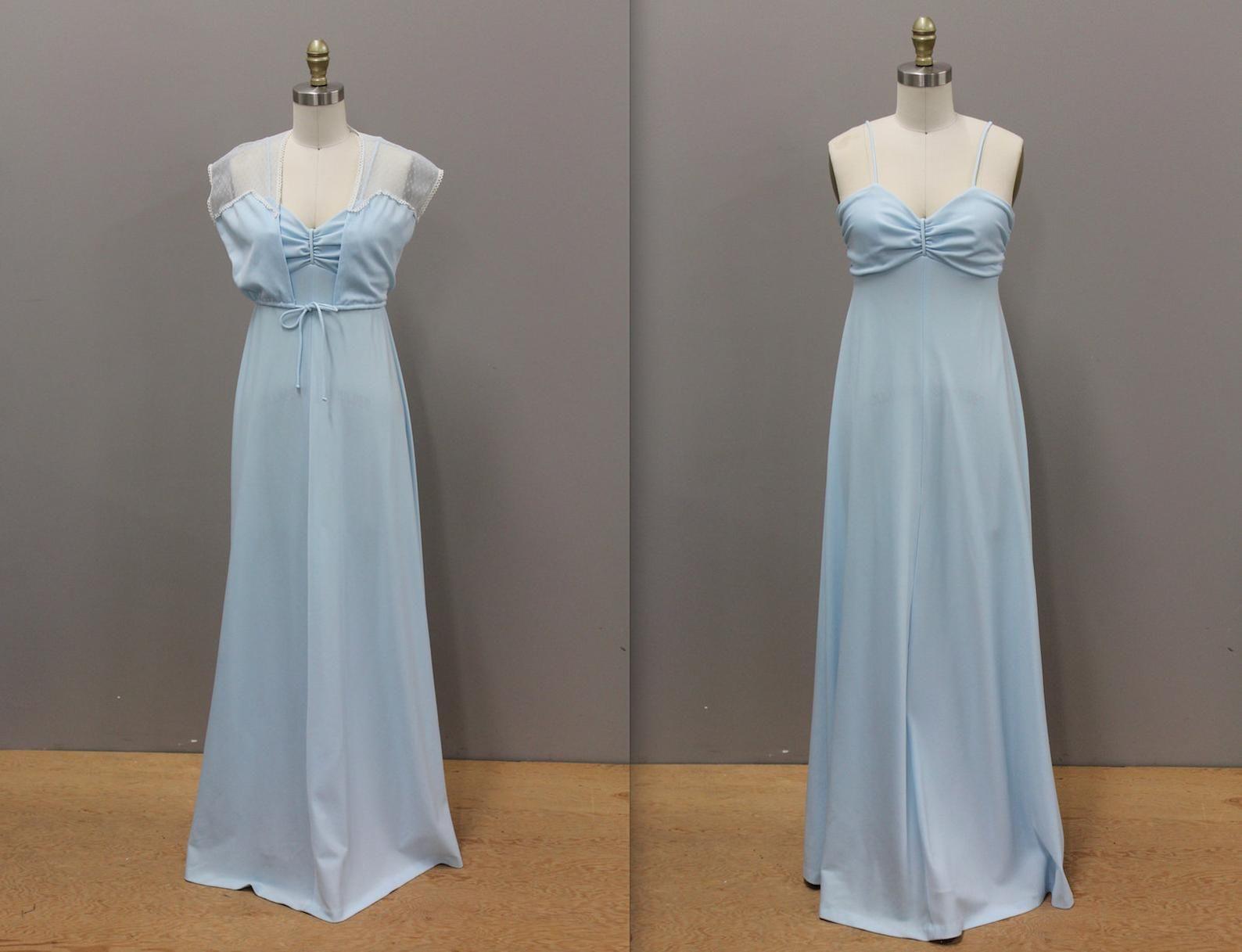Vintage 1970s Blue Prom Dress 1970s Sky Blue Peasant Dress Etsy Prom Dresses Blue Dresses Prom Dresses [ 1217 x 1588 Pixel ]