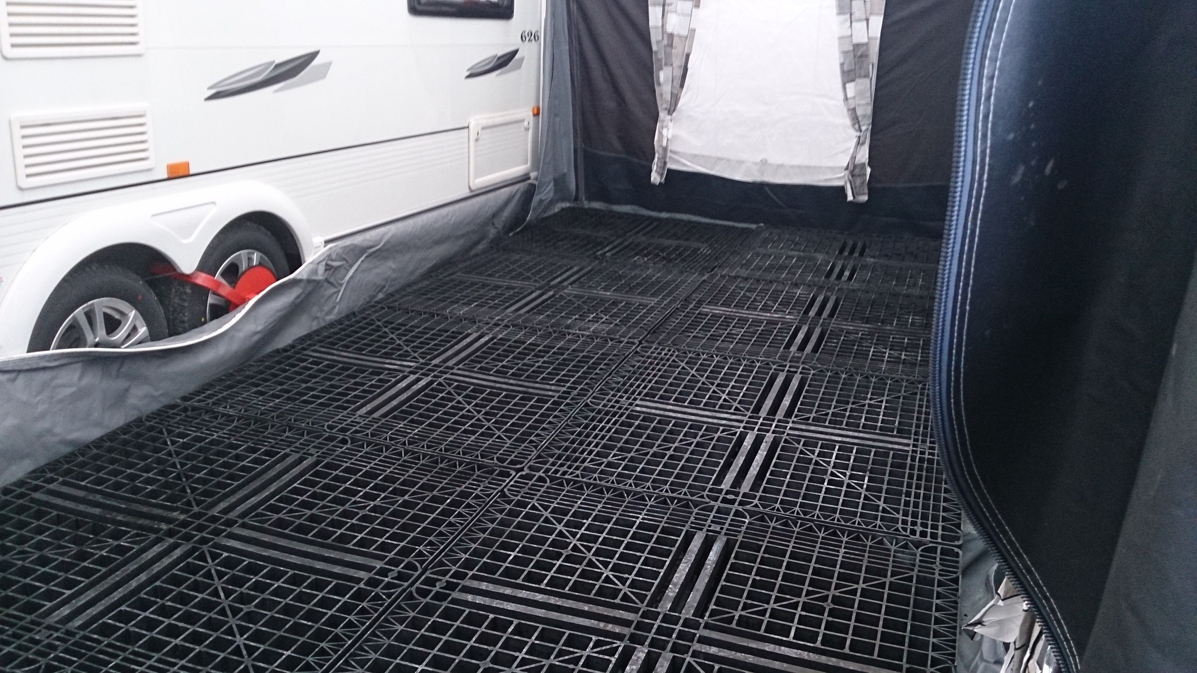 These pallets make a great base for a Caravan Awning- they ...