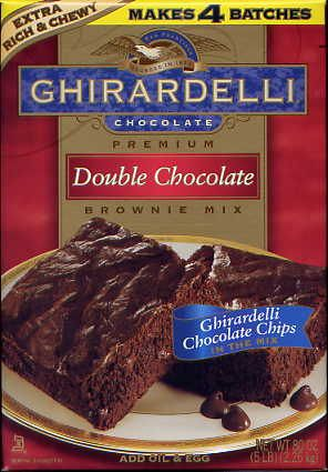 Ghirardelli Double Chocolate Brownie Mix Boxed Brownie Recipes