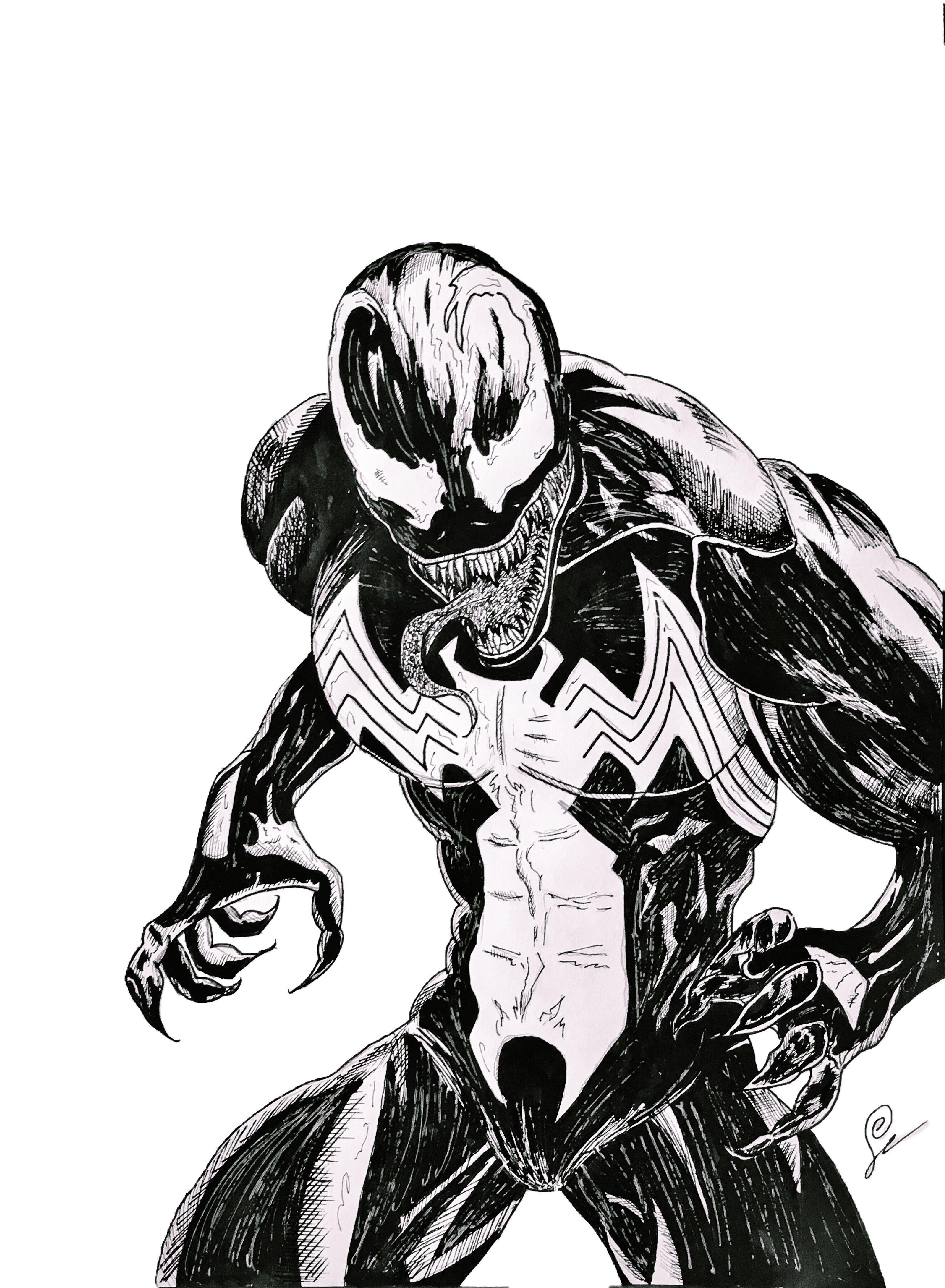 Venom Sketch Venom Art Spider Verse Art Comic Drawings