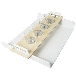 Ateljee tray in white by aarikka