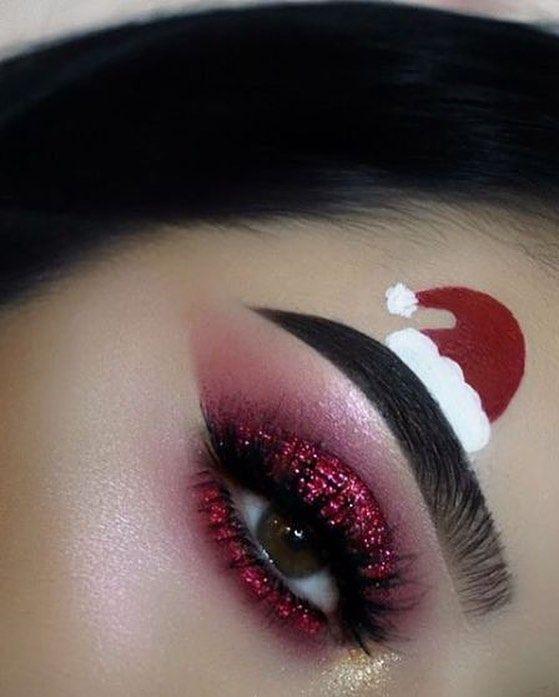 Ideas de maquillaje navideño para una experiencia navideña inusual: manualidades de bricolaje