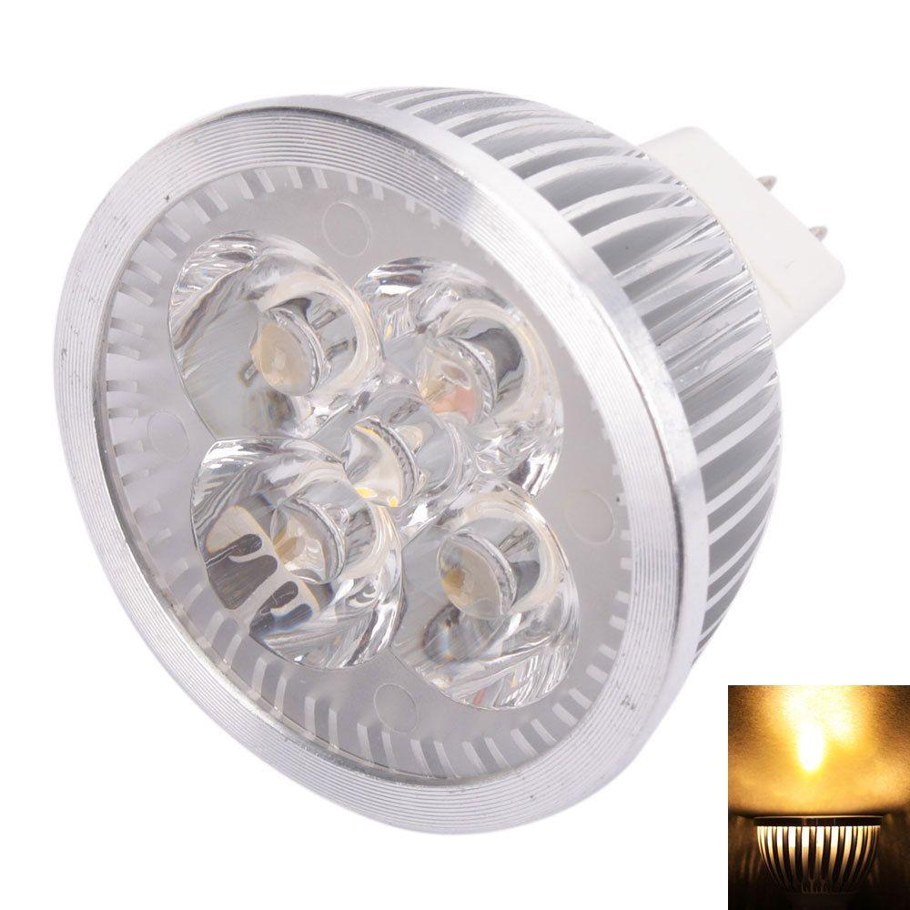 5pcs MR16 4W 12V Warm White Light LED Spotlight Lamp (Warm White ...