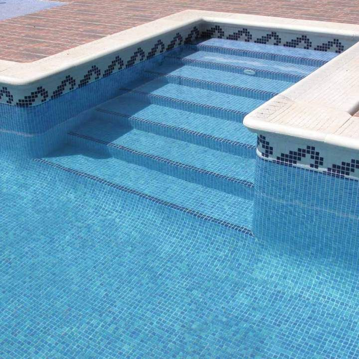 These Olas border swimming pool mosaic tiles will add the finishing touch  to any stylish swimming