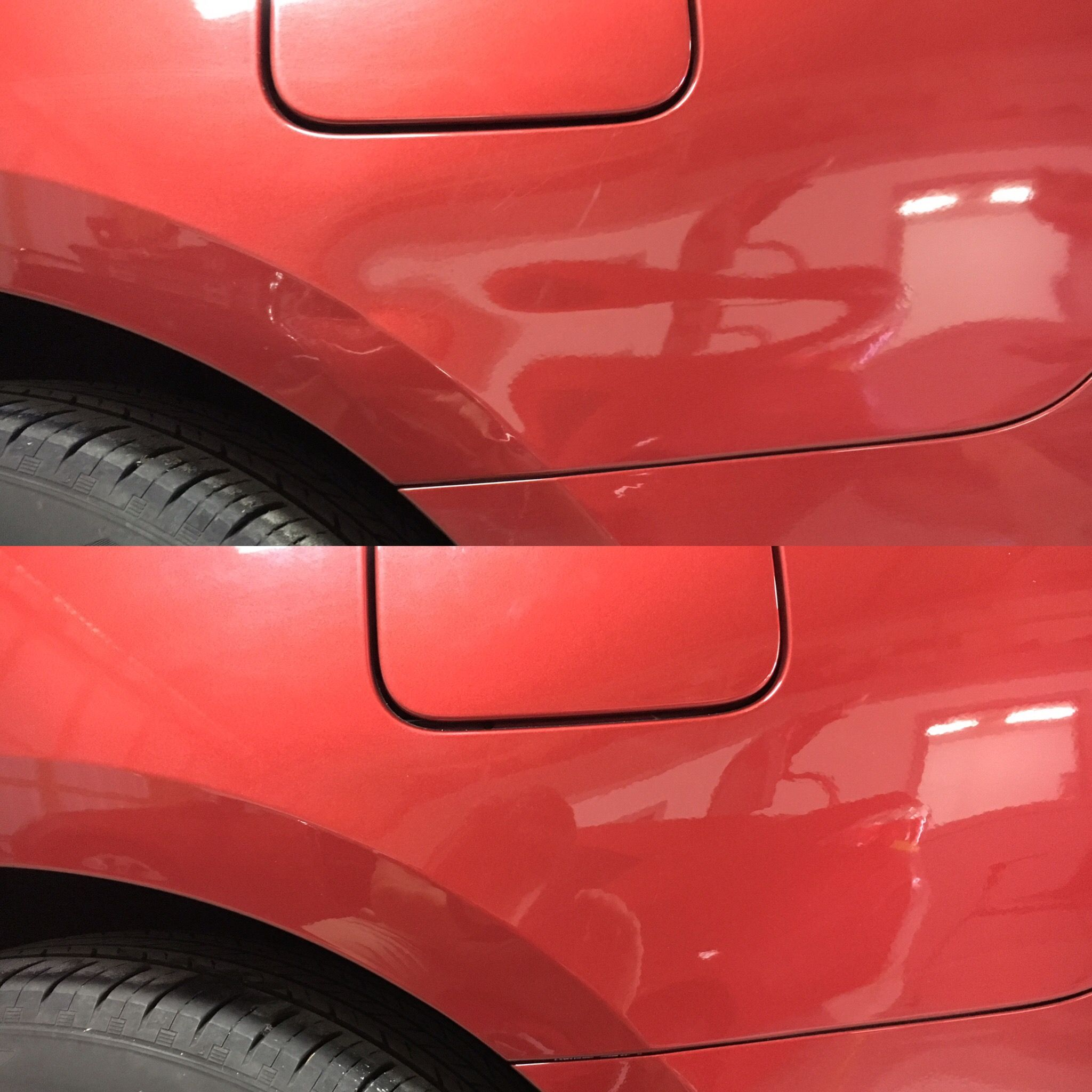 Crease Dent Through A Body Line That We Repaired With Our