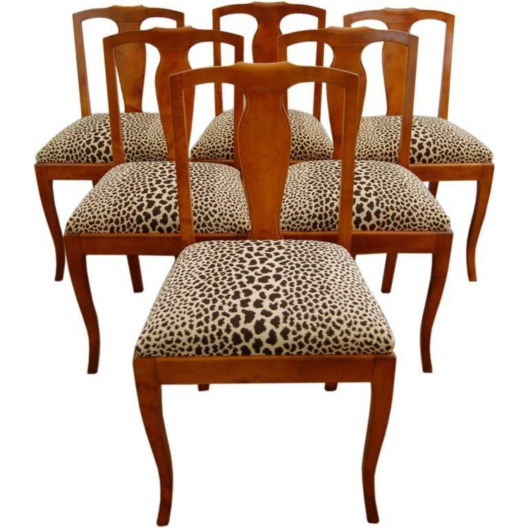 Swedish Flame Birch Dining Side Chairs - Set of 6 on ...