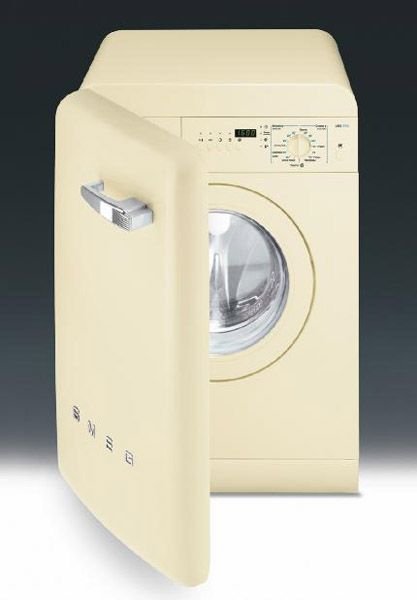 Washing Machine for Small Spaces, Modern Space Saving Home Appliances From Smeg is part of Retro appliances, Washing machine in kitchen, Smeg, Vintage laundry, Washing machine, Modern spaces - A new washing machine designed for small spaces make laundry room design more comfortable and stylish