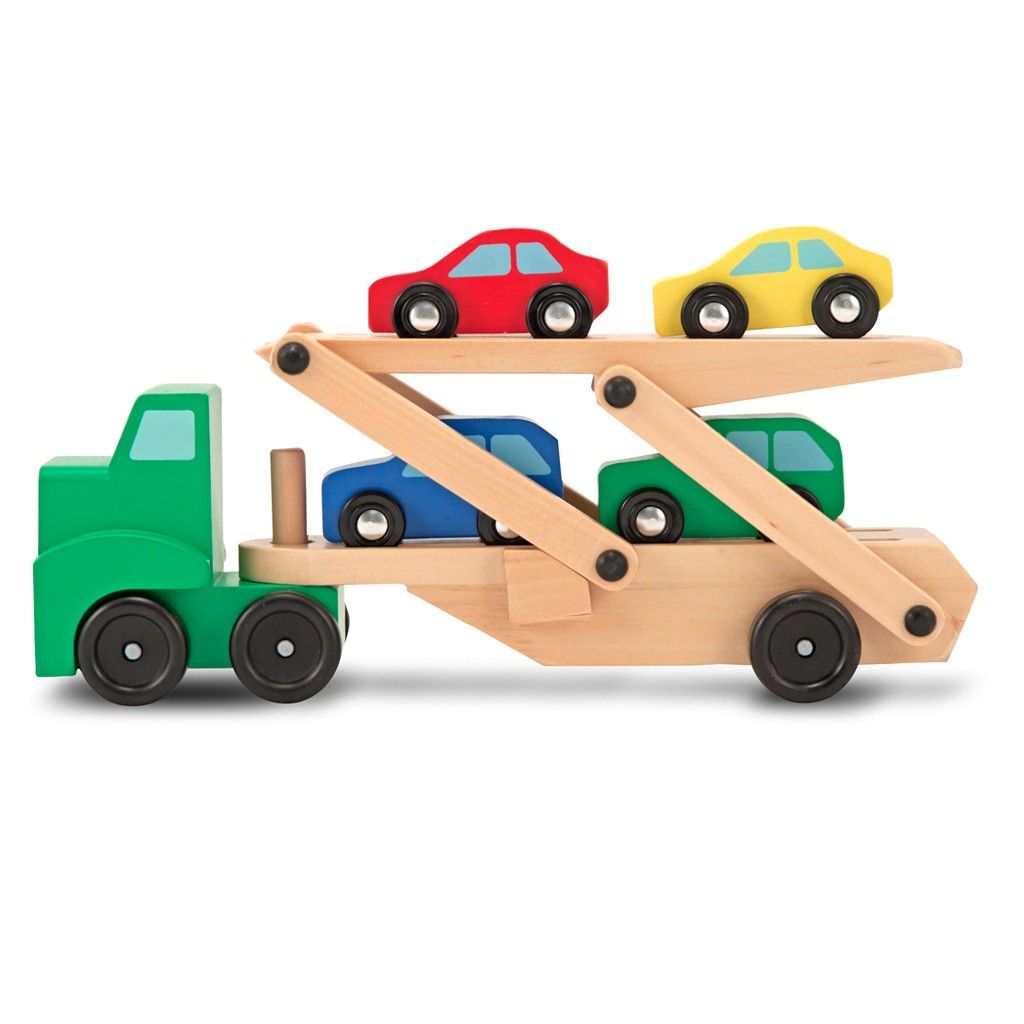 Toys car image  Kids will love this car transporter by Melissa and Doug A great
