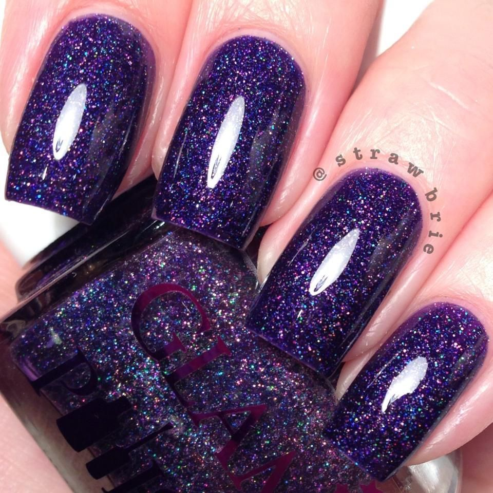 Tempestarii by Glam Polish. Tempestarii - A deep purple scattered ...