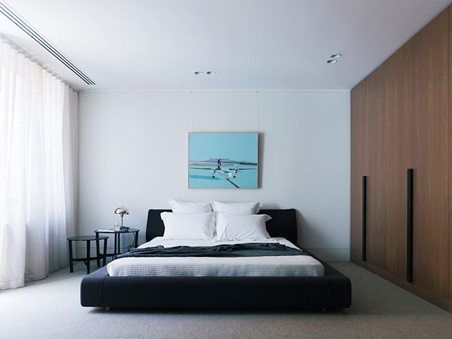 41 Darling St Master Bedroom Joinery Robe Artwork Styling Nina Provan Photography Derek Swalwell