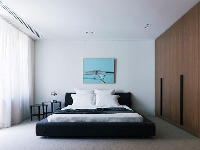 41 Darling St Master Bedroom Joinery Robe Artwork Styling Nina Provan Photography Derek Swalwell