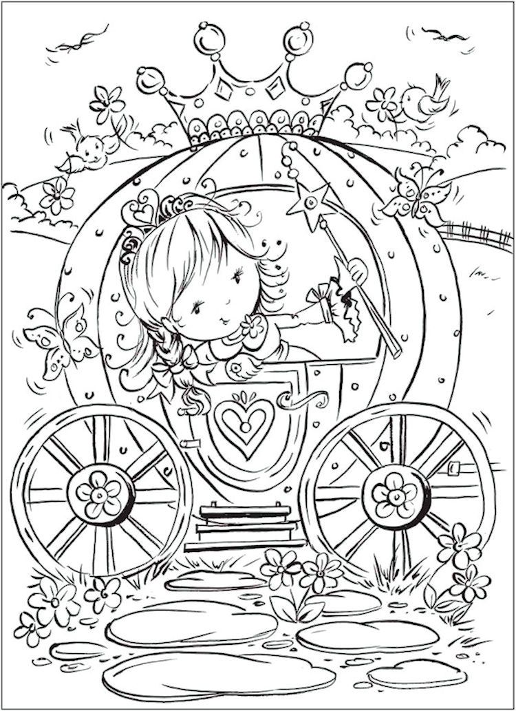 Dover Pretty Princess Coloring Page 3 Kids ALL Ages