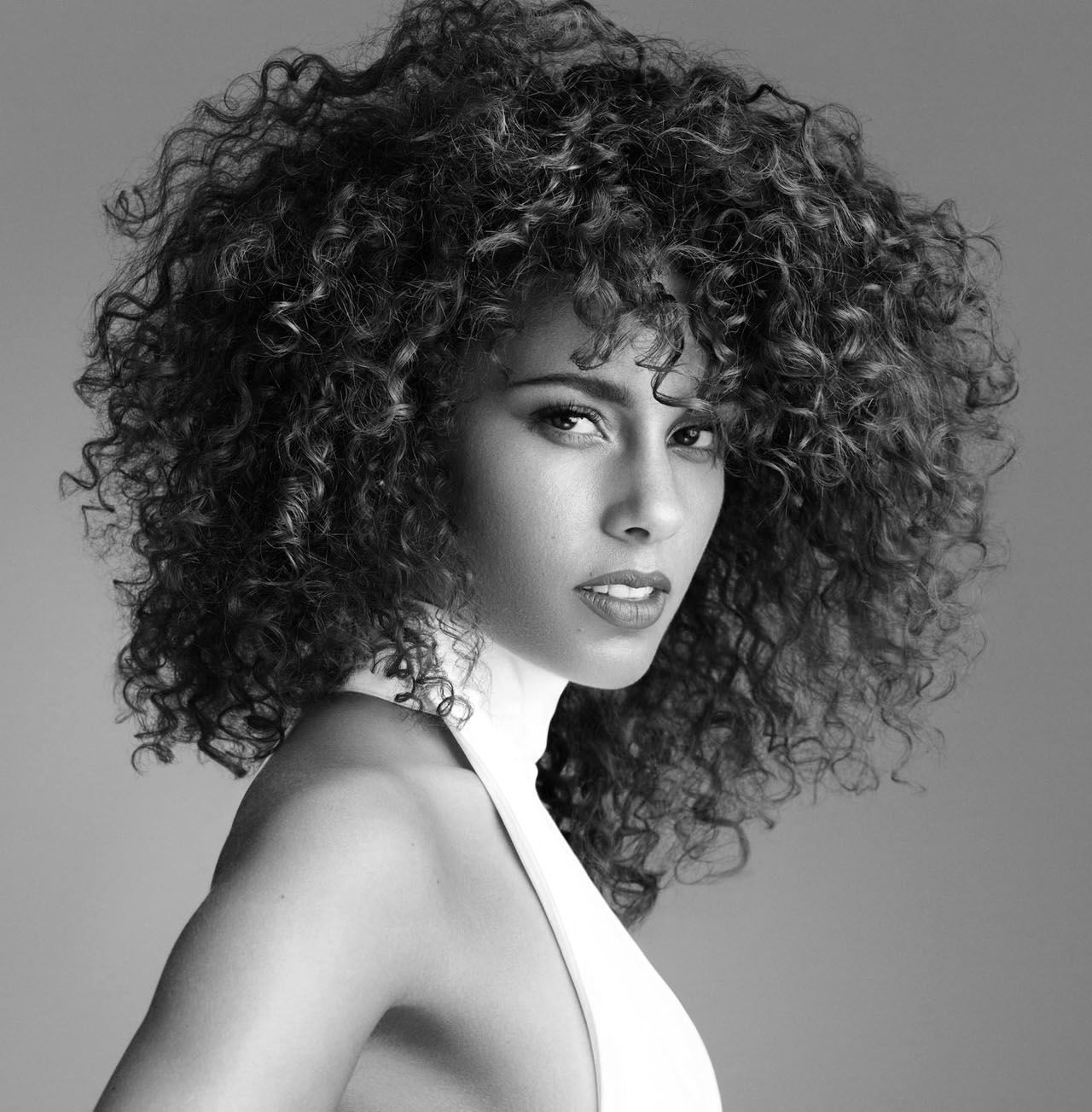 alicia...looking fierce with her natural curls