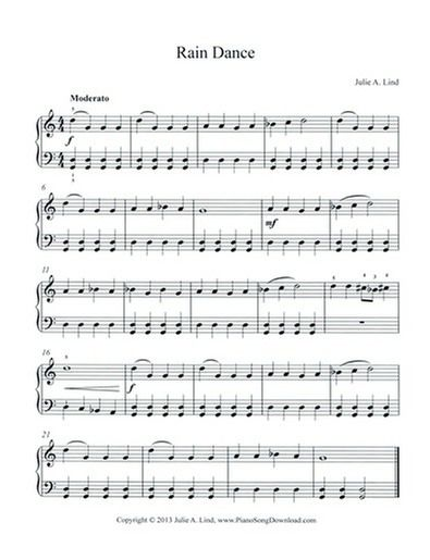 Rain Dance Free Piano Sheet Music With Images Piano Sheet