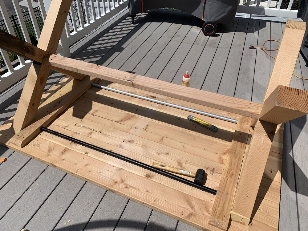 How to Build Your Own XLeg Outdoor Table DIY Diy