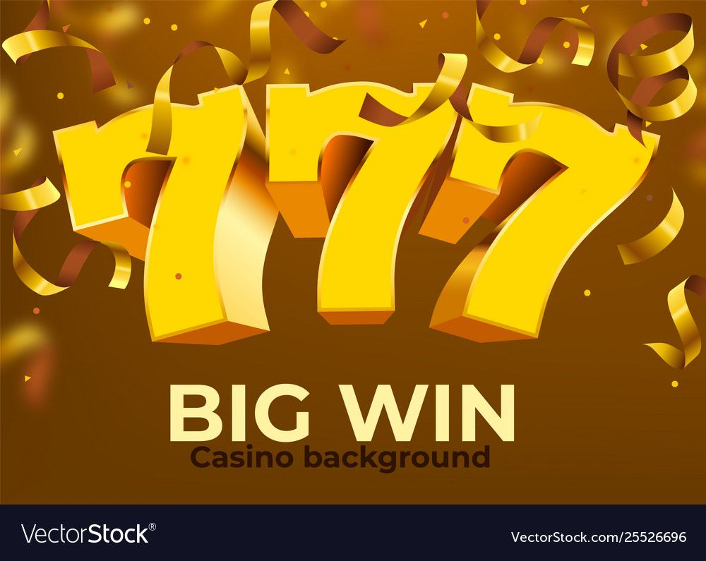 Golden slot 777 with flying golden confetti wins the