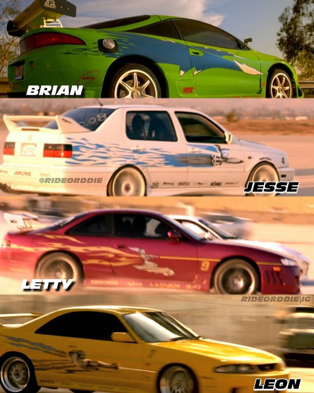 #TheFastOfTheFurious ; Some Cars From F&F 1 👊