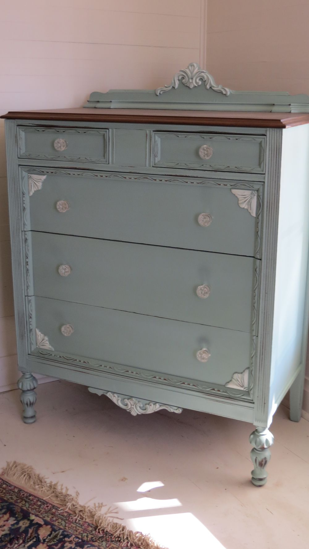 Best Beautiful Vintage Dresser Persian Blue And White With 400 x 300