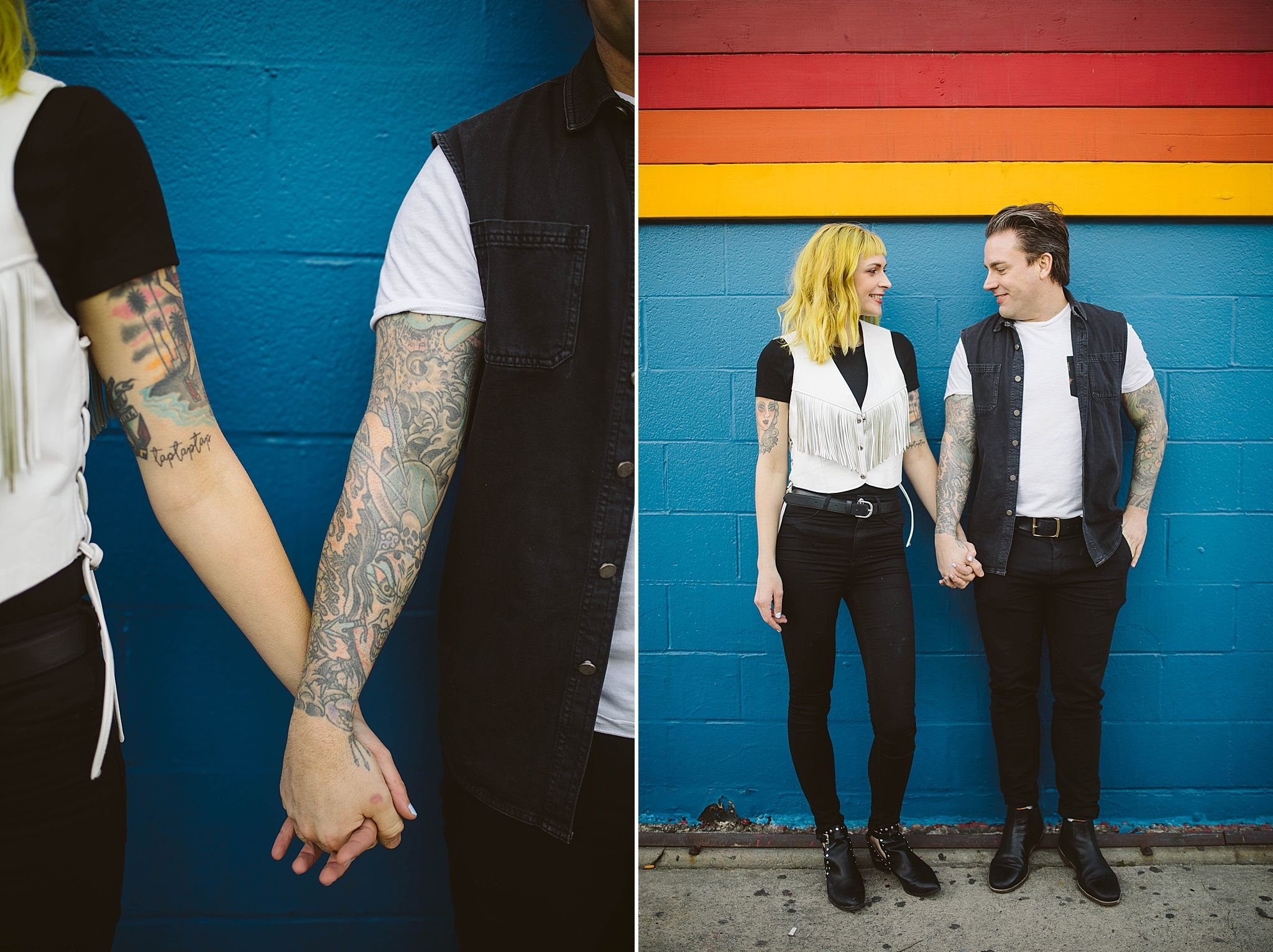 80's rock inspired Venice Beach Engagement || Los Angeles, CA